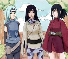 Naruto girls by AFunny