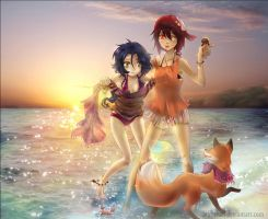 :: Sunny Evening at the Beach :: by bibi-chan