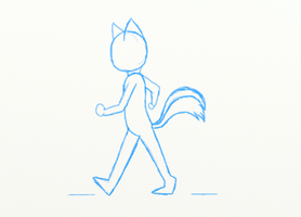 1st walking animation! by HaleyxH