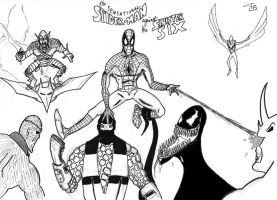 Spider-Man VS The Sinister Six by FG-Arcadia