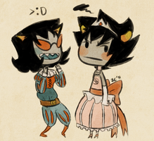 princess karkat and prince ter by Jesscookie