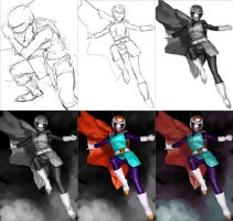 Great Saiyaman 2 process pic by AldgerRelpa