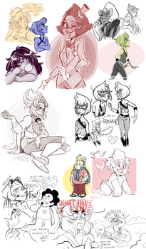 Steven Universe dump - JULY 2015 by MrsDrPepper