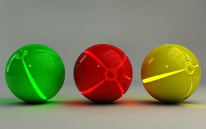 Colorful glowing Balls I by Dracu-Teufel666
