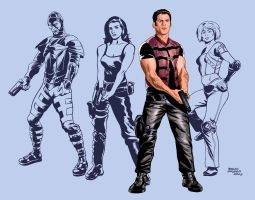 FARSCAPE characters by benitogallego