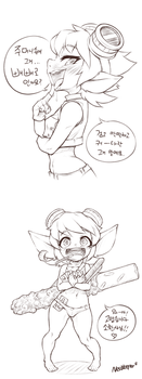 Tristana with Pepero by Nestkeeper