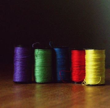 Tiny Spools by jam-tart