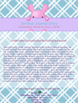 Pink Bunny Journal Skin by nikkittie