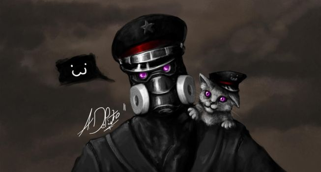 I for one welcome our cat overlords by alexiuss