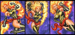 MS  MARVEL BINARY PERSONAL SKETCH CARDS 2015 by AHochrein2010