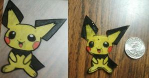 pichu shrinky dink charm by aliciamarie923