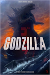 Godzilla 2014 Movie Poster TDC Painting by thedarkcloak