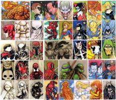 SKETCH CARDS comic FOUR by mdavidct