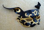 Black and Gold Rabbit Mask by merimask