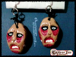Attack on Titan: Colossus Titan earrings by LoKiRaseNgAn