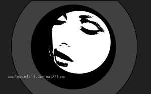 black and white woman by Peace4all