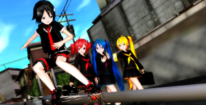 MMD:After School Walking with girls by XXSefa