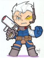 Chibi-Cable. by hedbonstudios