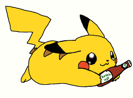 pikachu LOVES KETCHUP!! by evilfliqpy