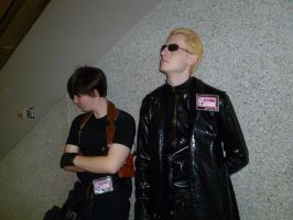 Leon and Wesker just hanging out by HUNK-42