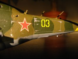 1/72 Scale MiL Mi-24 Hind D (Weathering 1) by Coffeebean2