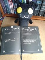 uh oh Heartless has  Death Note!!! by lustyvampire