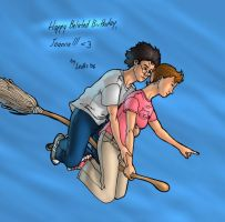 Riding a broom by BerenicePotter