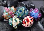 Glass Lampwork Beads by andromeda