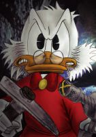 Don't mess with Scrooge McDuck by ubasuteyama
