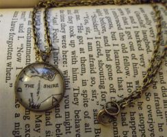 The Shire Map Necklace by GamerKirei