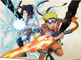 Naruto and Sasuke (Dragon Blade) by Master-Mac