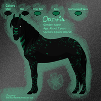Orthia Ref Sheet by BlackWolfyx3