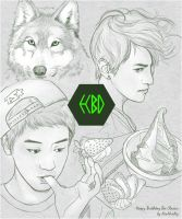 EXO : BD Card for my friend by lottovvv