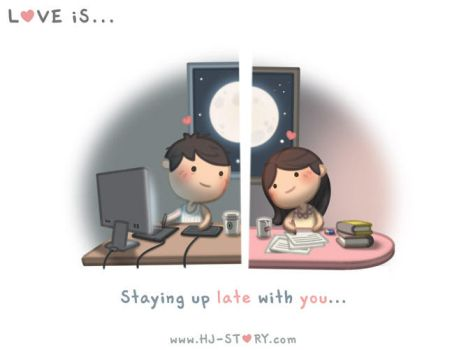 Love is... Staying Up Late With You by hjstory