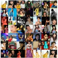 Lily Allen Collage by Grella