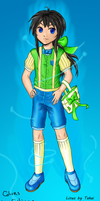 Boy with green ribbons by Eyliana