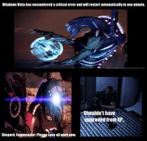 Mass Effect 3 - Legion Crashes by shade-of-wolf