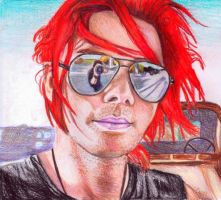 Gerard Way and Aviators-Color- by hmbhaines