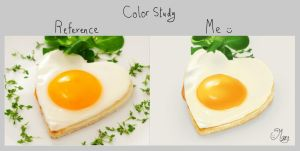Heart fried egg - color study :) by mary3m