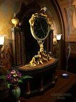 Art Nouveau Gilt Clock by Vanguard-Studio