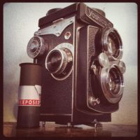 Yashica D and 120 Film by jonniedee