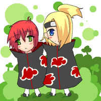 Deidara and Sasori by MidnightAlchemist