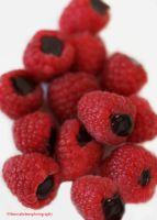 Chocolate Ganache Filled Raspberries + Smoothies by theresahelmer
