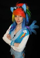 Rainbow dash cosplay by vikkiievoltage