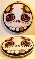 Another Muertos skull hoop by loveandasandwich