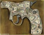 Cash Gun by Tommervik Gun-art by TOMMERVIK