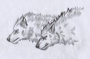 Lycan Heads by FuriarossaAndMimma