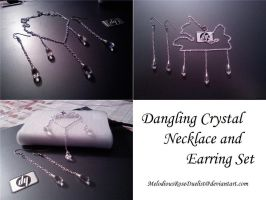 Crystal Necklace Earring Set by MelodiousRoseDuelist