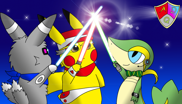 PokeScuad of the mystery dungeon team by lSnivyl