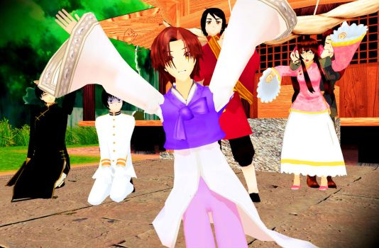 MMD Asian Family Photo.. Korea Model WIP 3 by PrincessSushiCat